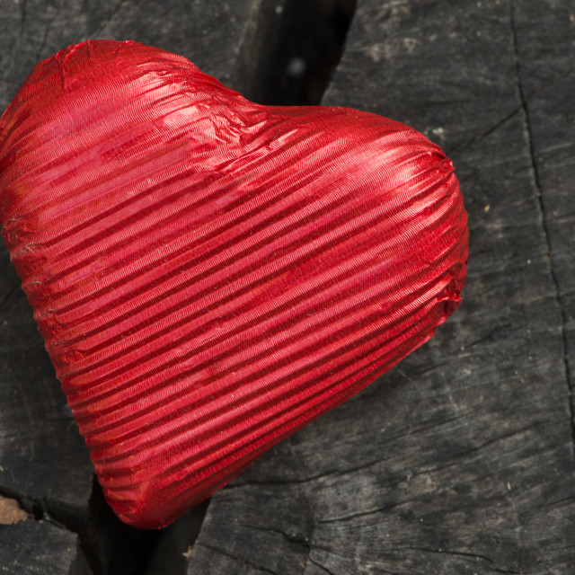 """Red wrapped heart"" stock image"