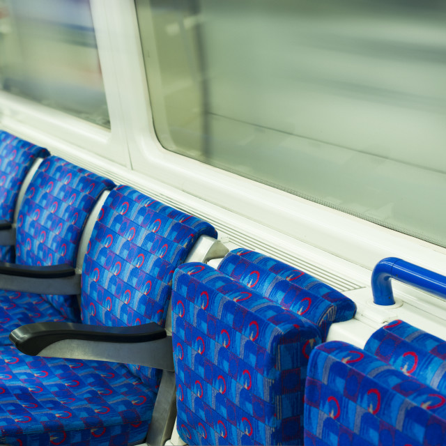 """Bus Interior at public transport."" stock image"