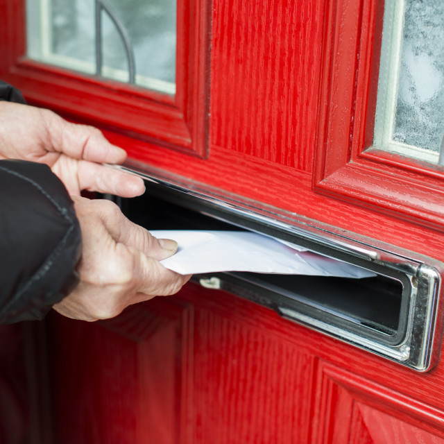 """Letter in the mailbox"" stock image"
