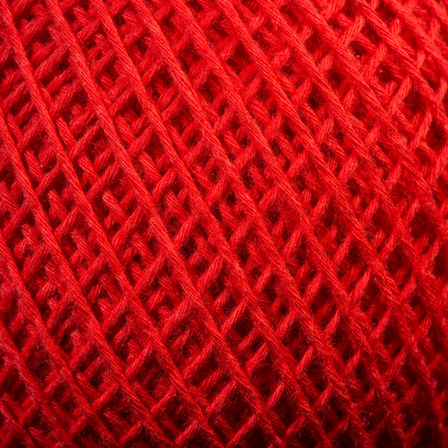 """Red yarn close up"" stock image"