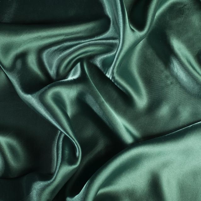 """""""Shiny green satin fabric"""" stock image"""