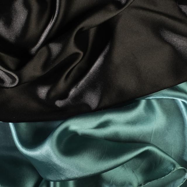 """Shiny black and green satin fabric"" stock image"