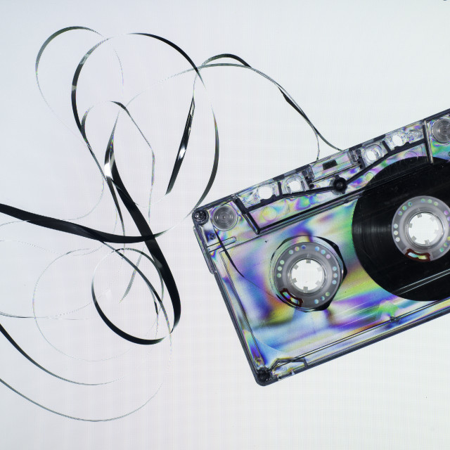 """Vintage cassette tape"" stock image"
