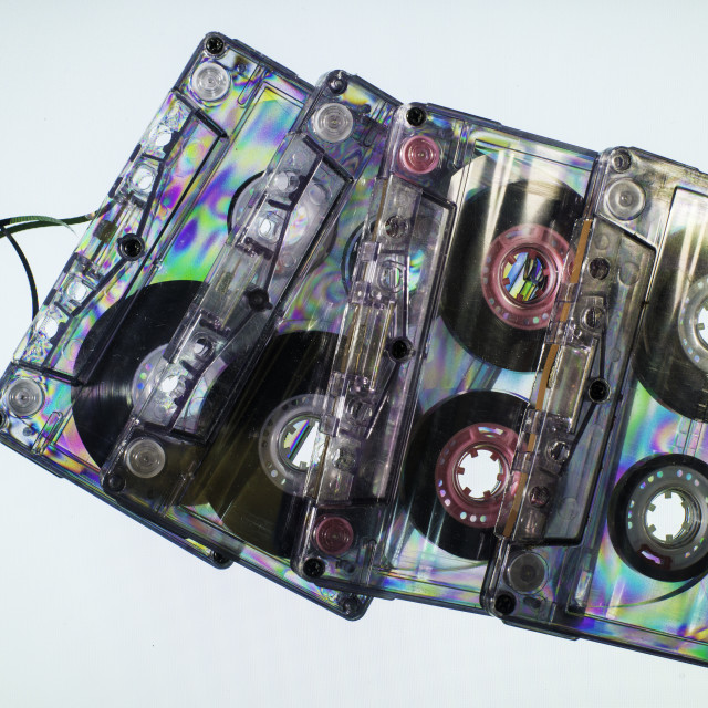 """Vintage cassette tapes"" stock image"