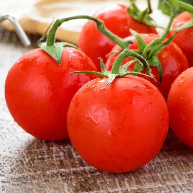 """Cherry tomatoes"" stock image"