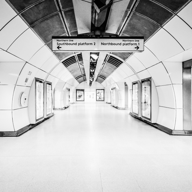 """Travelling on the London Underground"" stock image"