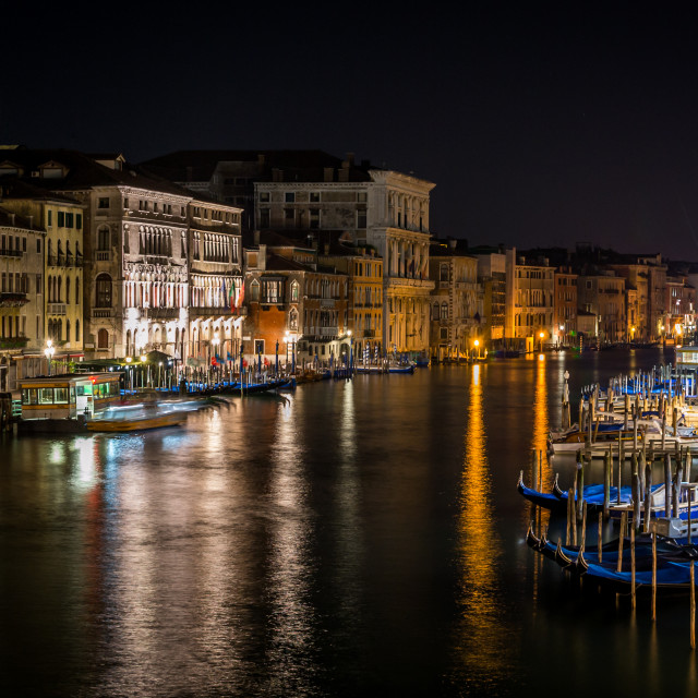 """Night view in Venice"" stock image"