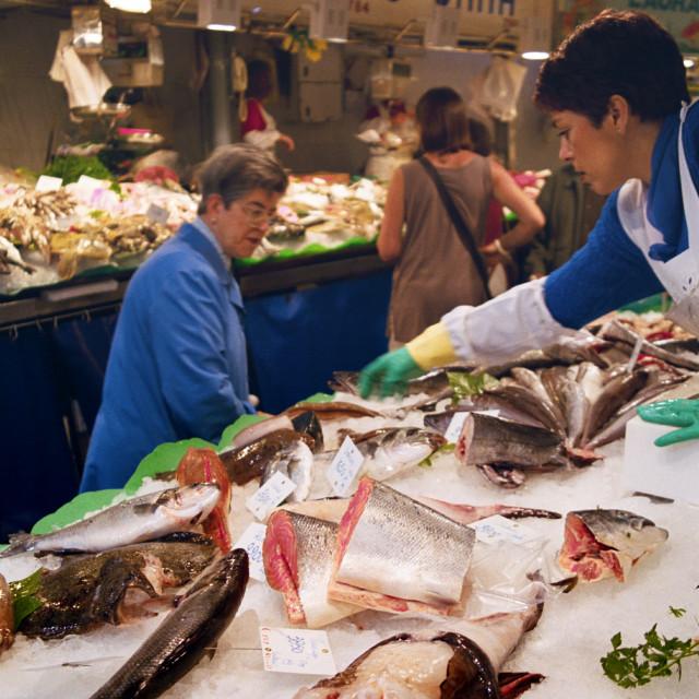 """""""Boqueria Market Barcelona"""" stock image"""
