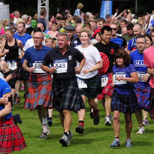 """Perth Kilt Run"" stock image"
