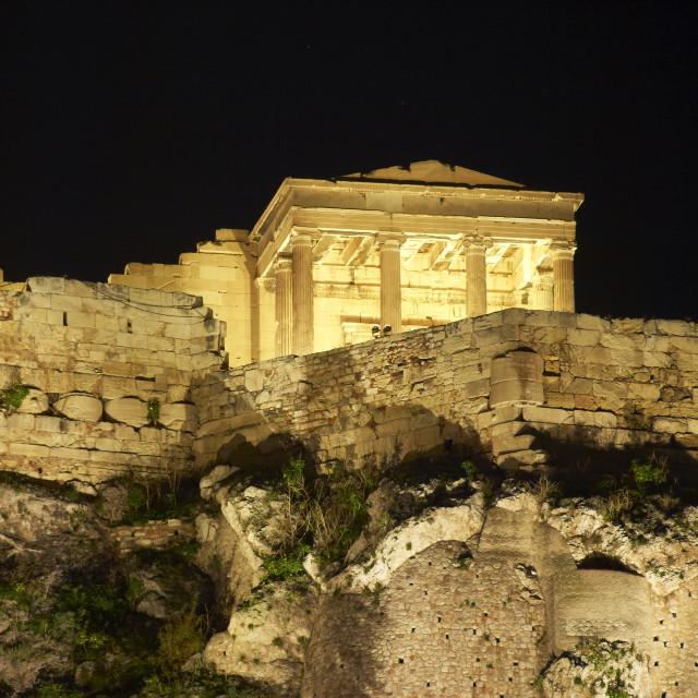 """""""Erechtheion, Acropolis night view"""" stock image"""