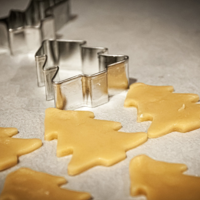 """""""Christmas cookie shapes"""" stock image"""