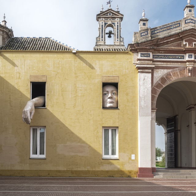 """""""Monastery of Santa María de las Cuevas. La Cartuja, Sevilla, Spain .The Andalusian Contemporary Art Center"""" stock image"""