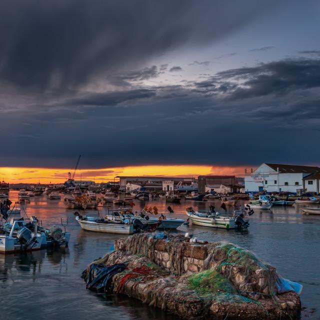 """fishing port. isla cristina, huelva, spain"" stock image"