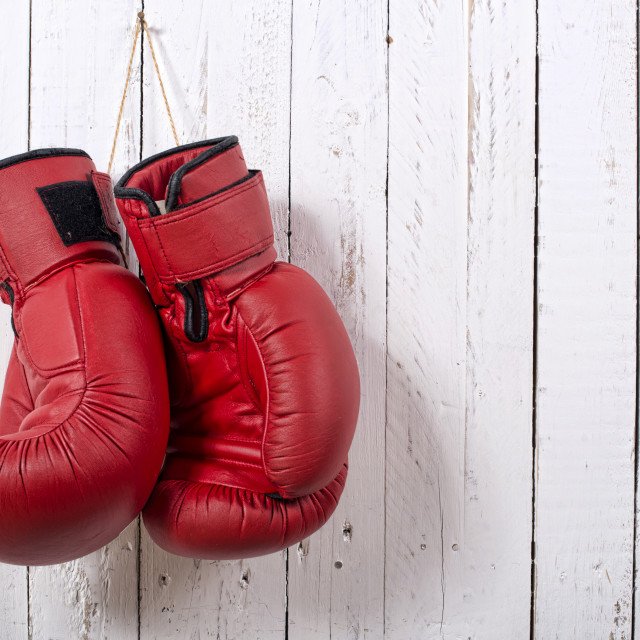 """""""red boxing gloves"""" stock image"""