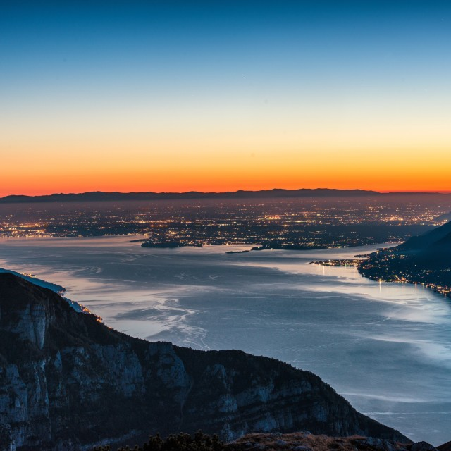 """High on lake Garda."" stock image"