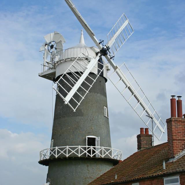 """Bircham Windmill, Norfolk,UK"" stock image"