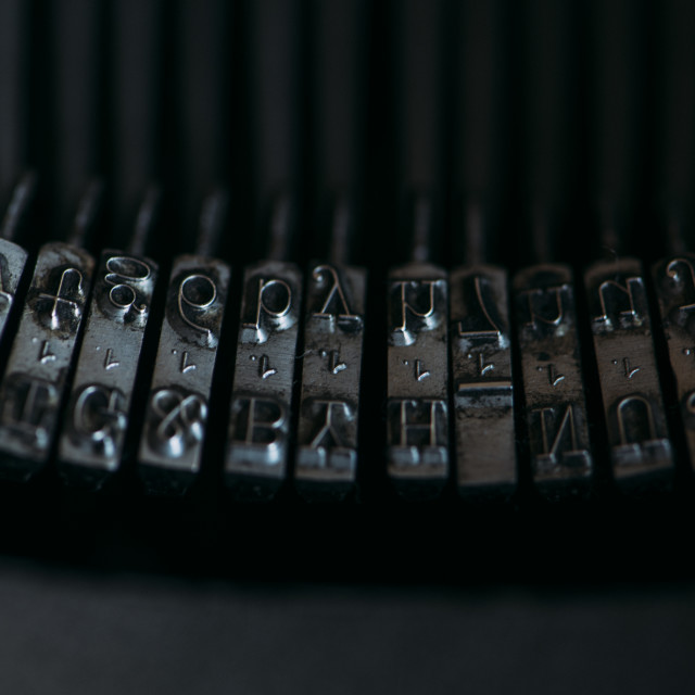 """""""Rods old typewriter"""" stock image"""