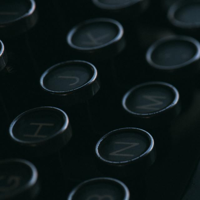 """""""Old typewriter keyboard"""" stock image"""