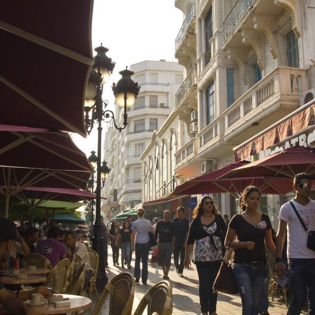 """""""Avenue Bourguiba Tunis"""" stock image"""