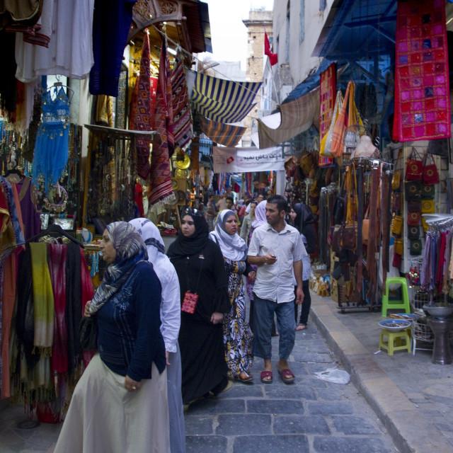 """""""La Souk de La Medina Tunis"""" stock image"""