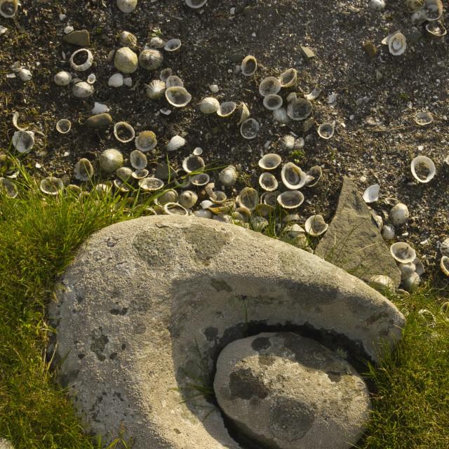 """Iron / Bronze Age Building Shetland"" stock image"