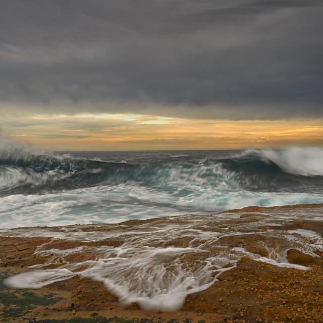 """Panoramic Seascape."" stock image"