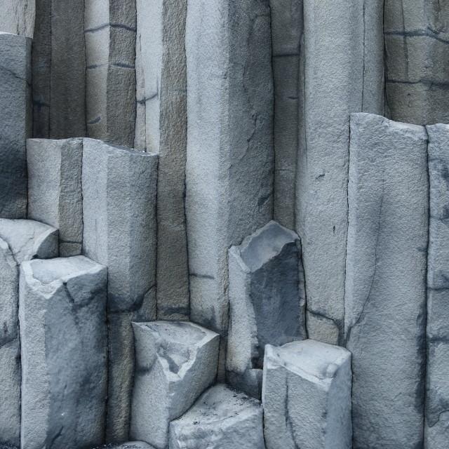 """Hexagonal basalt columns, Iceland"" stock image"