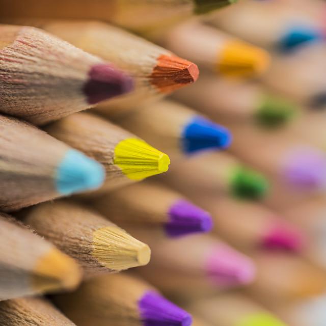 """Macro Colored Pencils"" stock image"