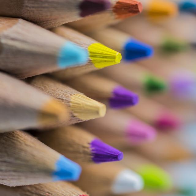 """Colored Pencils Macro"" stock image"