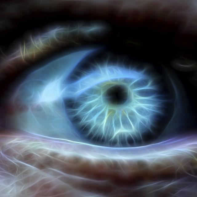 """""""Human Eye Glowing Macro"""" stock image"""