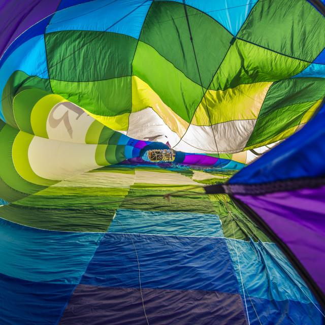 """Hot Air Balloon Inside"" stock image"