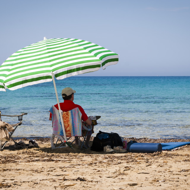 """Saturday Afternoon Relaxation by the Sea"" stock image"