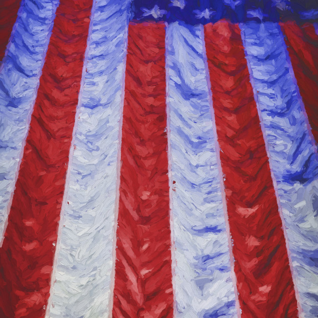 """""""The American Flag Painted"""" stock image"""
