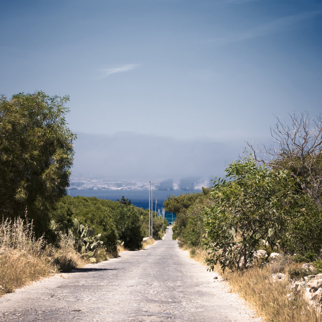 """""""Road to the Coast"""" stock image"""