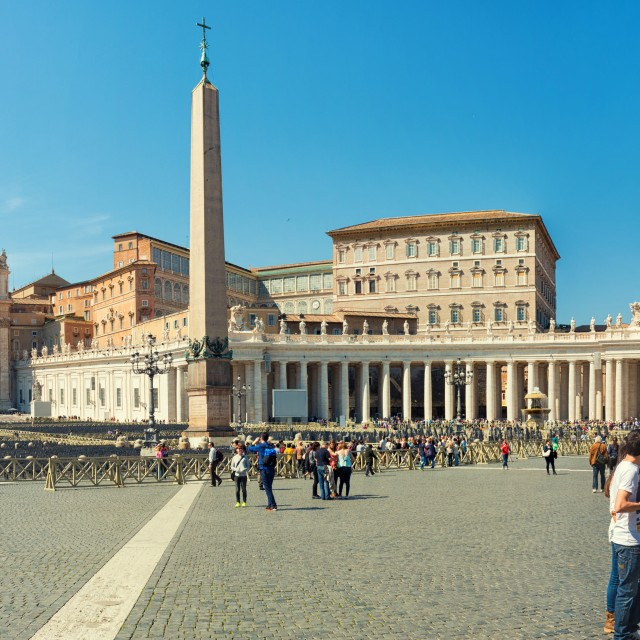 """Saint Peter Square Panorama"" stock image"
