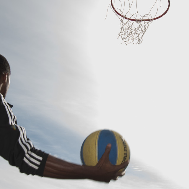 """Basketball in South Africa"" stock image"