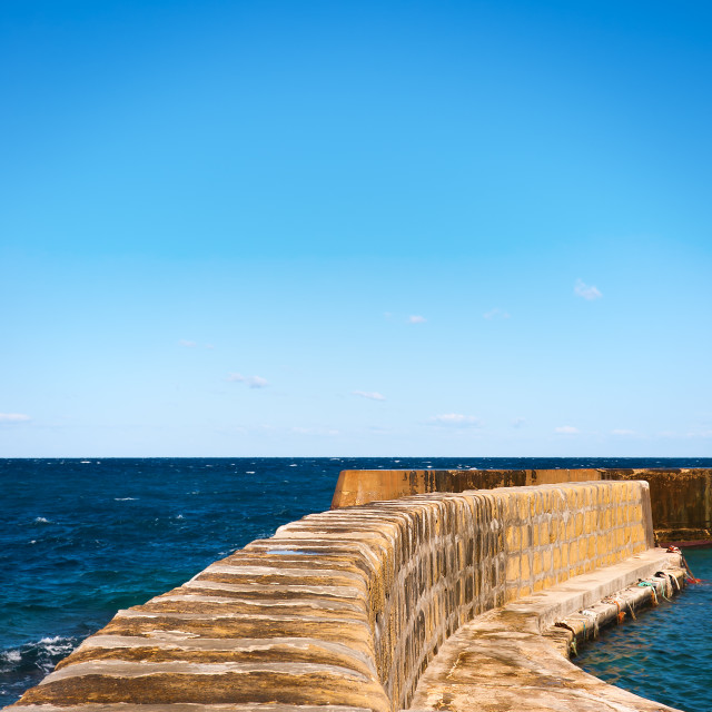 """Harbour Walls"" stock image"