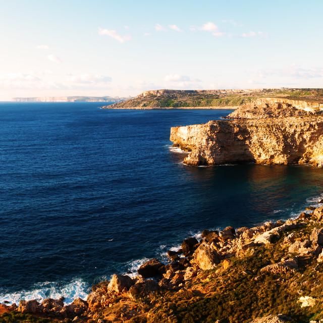 """Northwest Coast of Malta"" stock image"