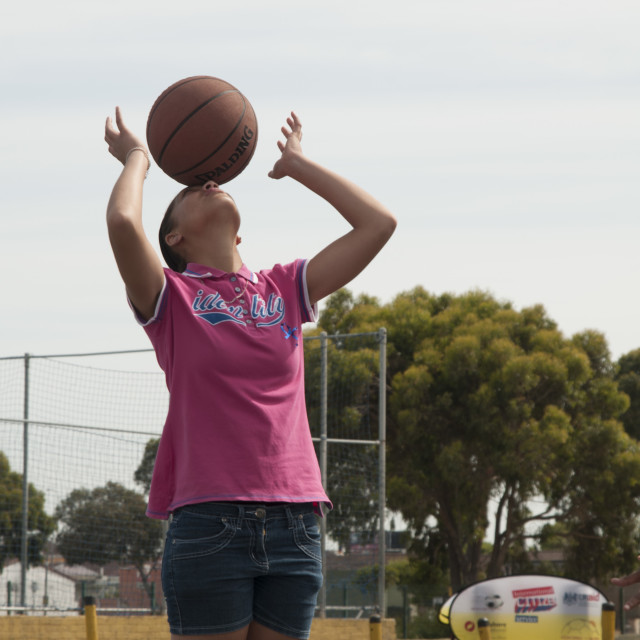 """""""Basketball in South africa"""" stock image"""