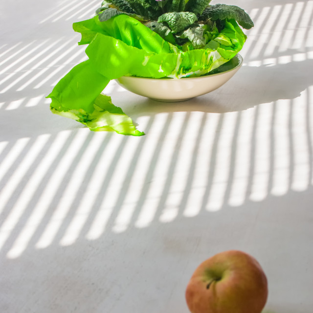 """""""Still Life With Apple"""" stock image"""