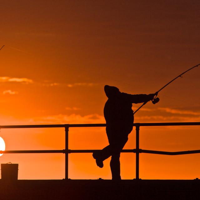 """""""Fishing for Dinner"""" stock image"""