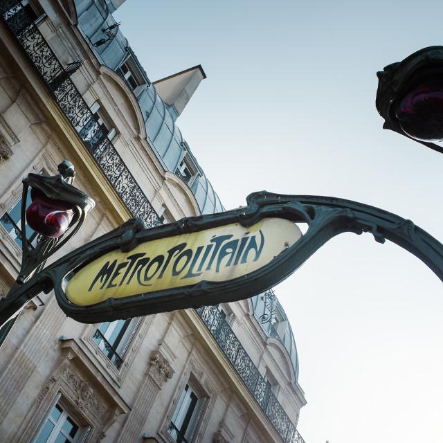 """Metropolitain"" stock image"