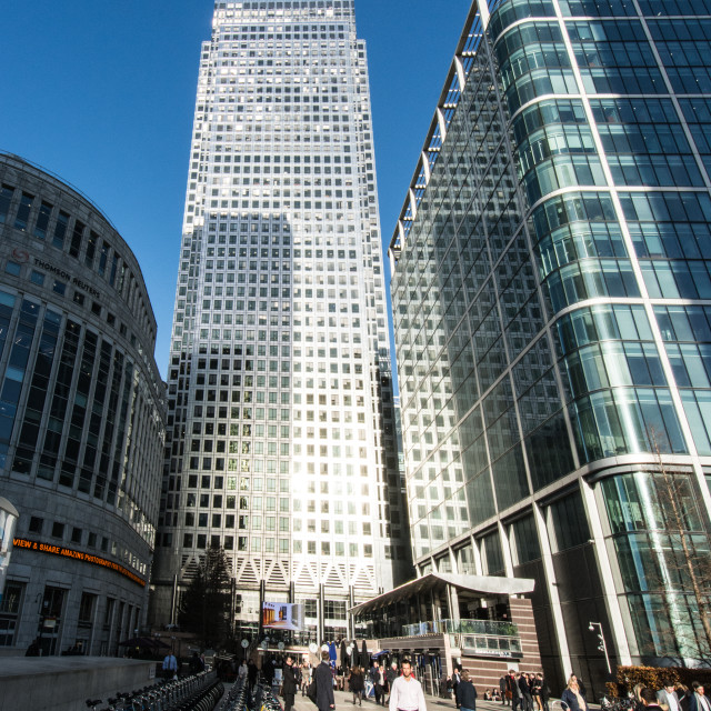 """One Canada Square"" stock image"