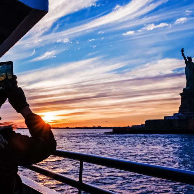 """""""Visiting NY"""" stock image"""
