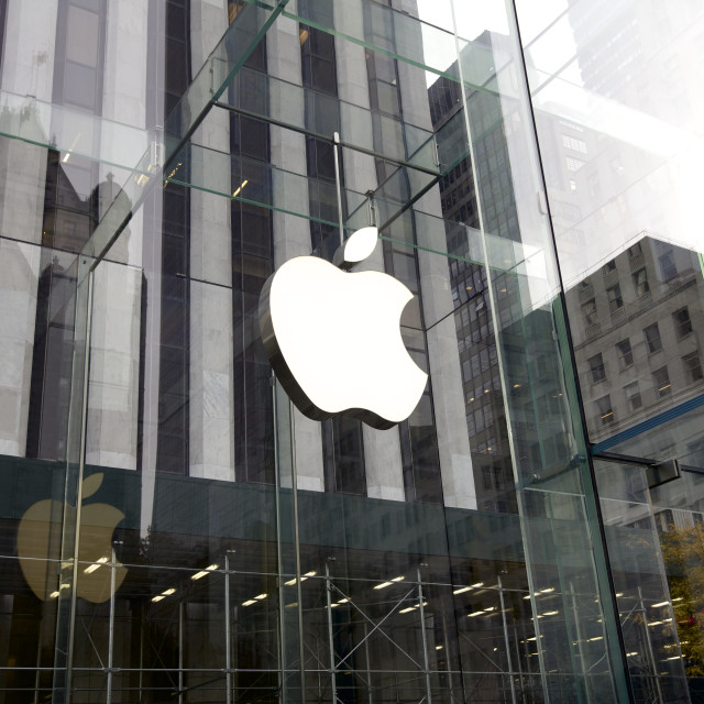 """""""Apple Store in New York, USA"""" stock image"""