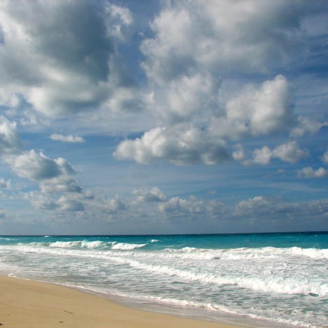 """A peaceful beach"" stock image"