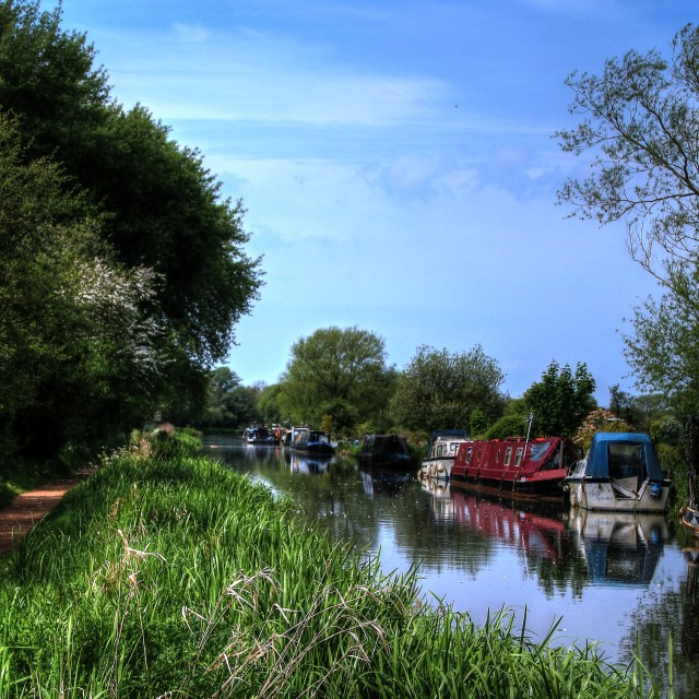 """Berkshire Canal"" stock image"