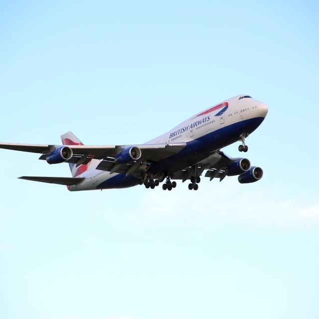 """British Airways Boeing 747 G-CIVH"" stock image"