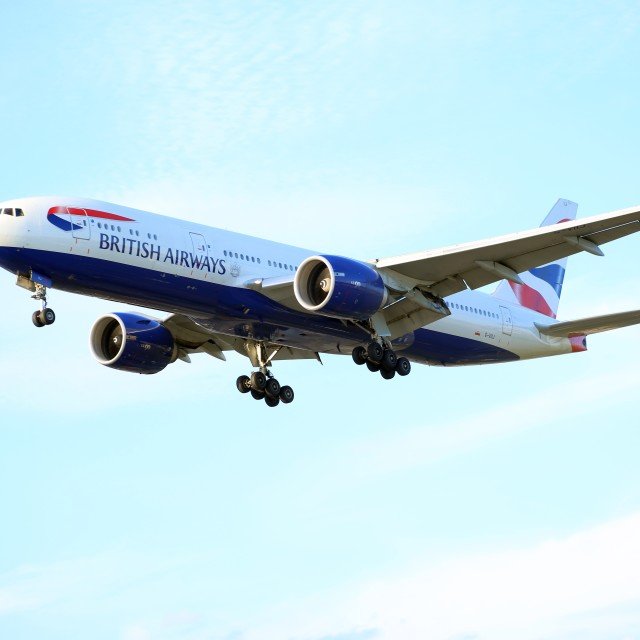 """""""British Airways Boeing 777 G-VIIJ"""" stock image"""