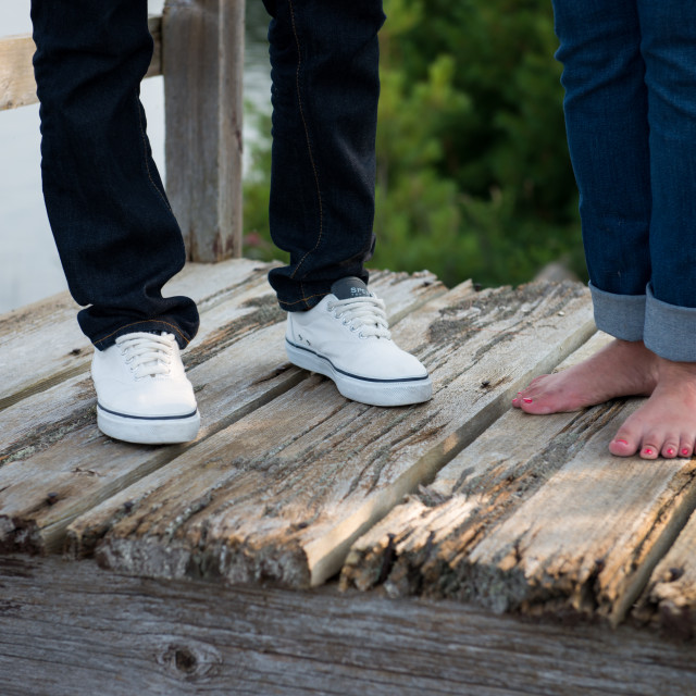 """""""Lovers at pier"""" stock image"""